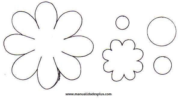 Molde de flores de fieltro - Imagui